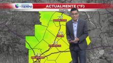 Se prevén chubascos para el centro de Texas este martes