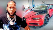 El Alfa pone a la venta el Bugatti de $3 millones que le fue quemado en Miami