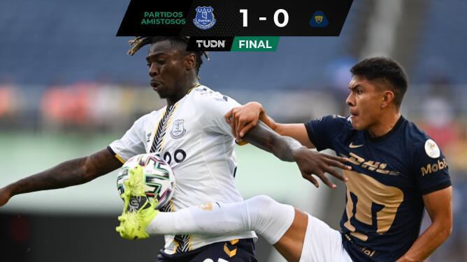 Con gol de Moise Kean, Everton derrota a Pumas en amistoso