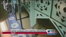 Protesta por acto vandálico en una mezquita de Davis