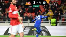 En un juegazo, el Leicester remontó y venció al Spartak