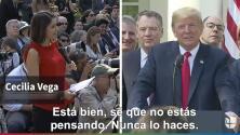 """""""Tú nunca piensas"""": Trump humilla a periodista hispana en plena rueda de prensa"""