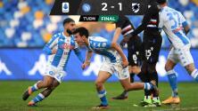 ¡De crack! Hirving Lozano hace gol y asistencia ante Sampdoria