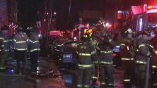 Rescatan a una bebé de un incendio que destruyó una vivienda en Nueva Jersey