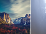 El momento en que un relámpago cae en estas montañas de California donde se registraron incendios