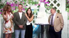Sorprendimos a Karina Banda y Carlos Ponce con una 'boda' en el estudio de El Gordo y La Flaca