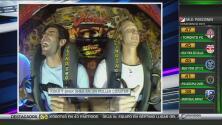 Kaká no corre, vuela… pero en un parque de atracciones