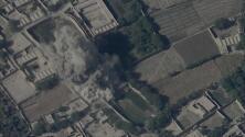 El momento en el que un cohete estadounidense destruye un edificio donde se reunían líderes talibanes