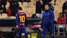 """Messi """"ocultaba"""" los problemas del Barcelona, según Ronald Koeman"""