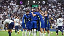 Chelsea goleó al Tottenhan y alcanzó a Liverpool en la Premier