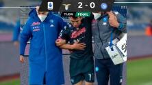 ¡Noooo! 'Chucky' Lozano sufre dura lesión en el Lazio vs. Napoli
