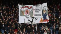 Polémica pancarta de aficionados de Crystal Palace es investigada por la policía