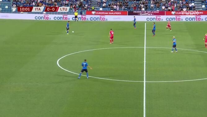¡Apareció Moise Kean! Italia ya le gana a Lituania en el Grupo C