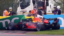 Choque de 'Checo' Pérez le impide correr el GP de Bélgica
