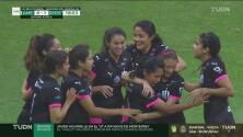 ¡Se adelanta la visita! Christina Burkenroad marca el 0-1 de Rayadas