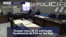 Arrestan a hombre con expedientes fraudulentos de PUA en Toa Baja