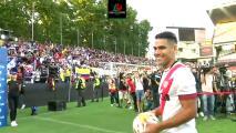 Radamel Falcao fue presentado por el Rayo Vallecano