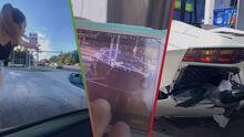 """(Video) """"Estúpido rico, dijo"""": Mujer choca contra un auto de lujo y reclama al conductor del Lamborghini"""