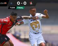 Resumen | Pumas y Atlas no se cansaron de fallar y empatan 0-0