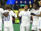 ¡Sin piedad! Real Madrid le mete cinco al Shakhtar en Champions y se afina para el Clásico
