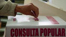 La baja participación marca la consulta popular promovida por AMLO para juzgar a los expresidentes de México