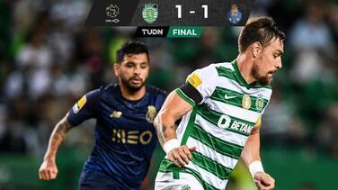 Con asistencia de Tecatito, el Porto empata ante Sporting CP