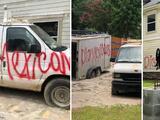 """""""Han matado a tres de nuestros perros"""": Familia hispana recibe amenazas de muerte en grafitis pintados en su casa y camioneta"""