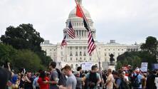 """""""Esto no es patriotismo"""": En medio de enfrentamientos se realizó la protesta de simpatizantes de Trump en Washington DC"""