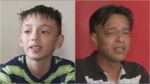 Ayuda de impacto: Este niño busca cómo pagar la cirugía que necesita su padre para volver a ver