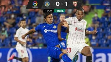 Suma minutos JJ Macías con Getafe en derrota ante Sevilla