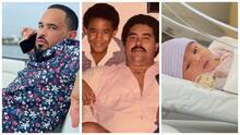 """Raphy Pina conmemora el aniversario luctuoso de su padre y dice que """"volvió a nacer"""" con su hija"""