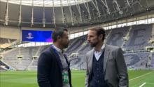 Rafa Puente visitó a Gareth Southgate, DT de la selección inglesa