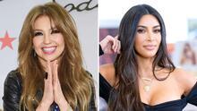 Thalía se comparó con Kim Kardashian: usaron un outfit parecido y compartió la foto