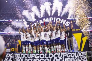 during the game United States vs Mexico, corresponding to the 2021 CONCACAF Gold Cup Grand Final, at Allegiant Stadium, on August 1, 2021. <br><br> durante el partido Estados Unidos vs Mexico, correspondiente a la Gran Final de la Copa Oro de la CONCACAF 2021,, en el Estadio Allegiant, el 01 de Agosto de 2021.