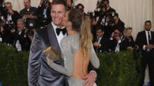 Gisele Bundchen despampanante y muy cariñosa junto a su esposo en el Met Gala