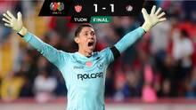 ¡Fideo Heroico! Necaxa rescata empate a un gol ante San Luis