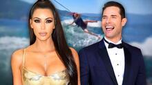 Al estilo de Sebastián Rulli, Kim Kardashian incursiona en el esquí acuático (pero cae en el intento)