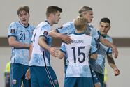 Noruega derrota a Montenegro en su casa y lo alcanza en el grupo