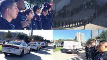 Escoltan el cuerpo del oficial asesinado en un tiroteo fuera de un bar al norte de Houston