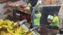 Policía tira a la basura kilos de frutas y verduras de vendedora ambulante