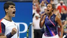 Un español y una canadiense de origen hispano brillan en el US Open