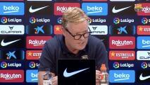 """Koeman dice que el Barça en """"Champions no puede esperar milagros"""""""