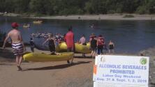 Para tratar de mantener la seguridad, se prohíbe el alcohol en el American River