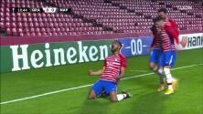 ¡GOL!  anota para Granada CF. Yangel Herrera