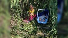 Bebé de tres meses y niña de dos años abandonados en la frontera a la orilla del Rio Grande