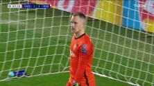¡GOL!  anota para Paris Saint-Germain. Moise Keane
