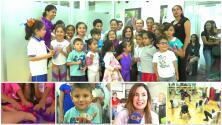 Paola Espinosa ganó otra medalla, pero esta vez por hacer felices a más de 60 niños