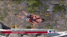 Captado en cámara: rescate de excursionista