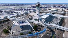 Avanza la construcción del tren automático elevado del Aeropuerto de Los Ángeles
