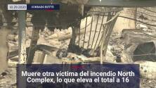 Muere otra víctima del incendio North Complex, lo que eleva el total a 16